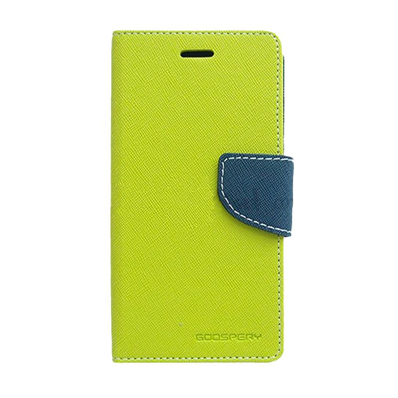 Mercury Goospery Fancy Diary Lime Navy Flip Cover Casing for Sony Xperia Z4