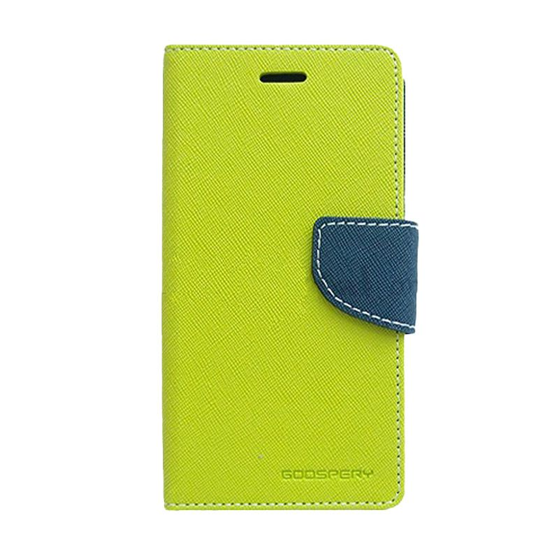Mercury Goospery Fancy Diary Lime Navy Flip Cover Casing for Xiaomi Note 2
