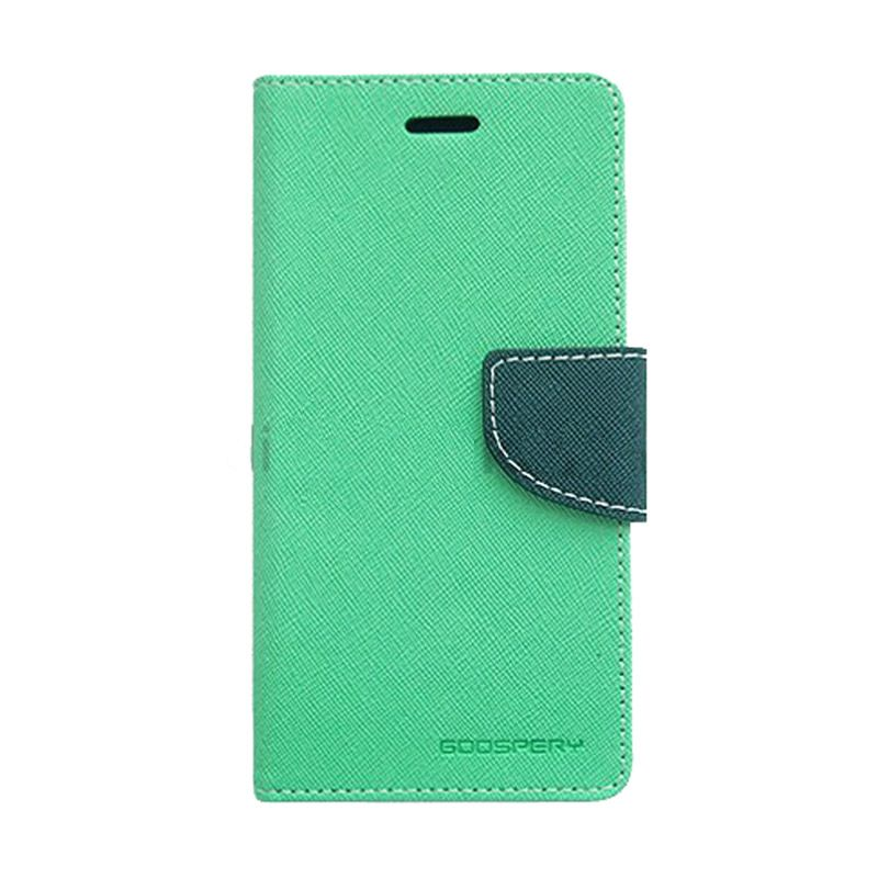 Mercury Goospery Fancy Diary Mint Navy Casing for iPhone 4 or 4S