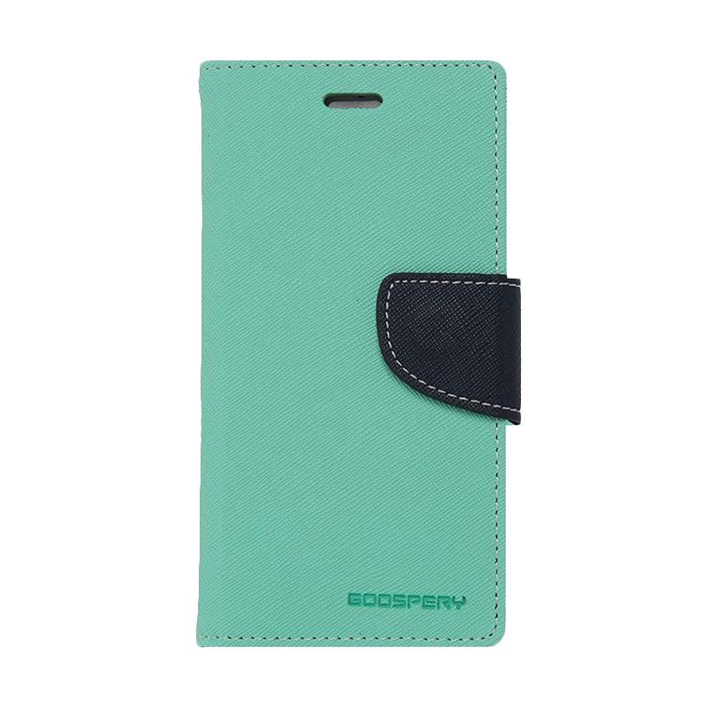 Mercury Goospery Fancy Diary Mint Navy Casing for Galaxy Grand Neo