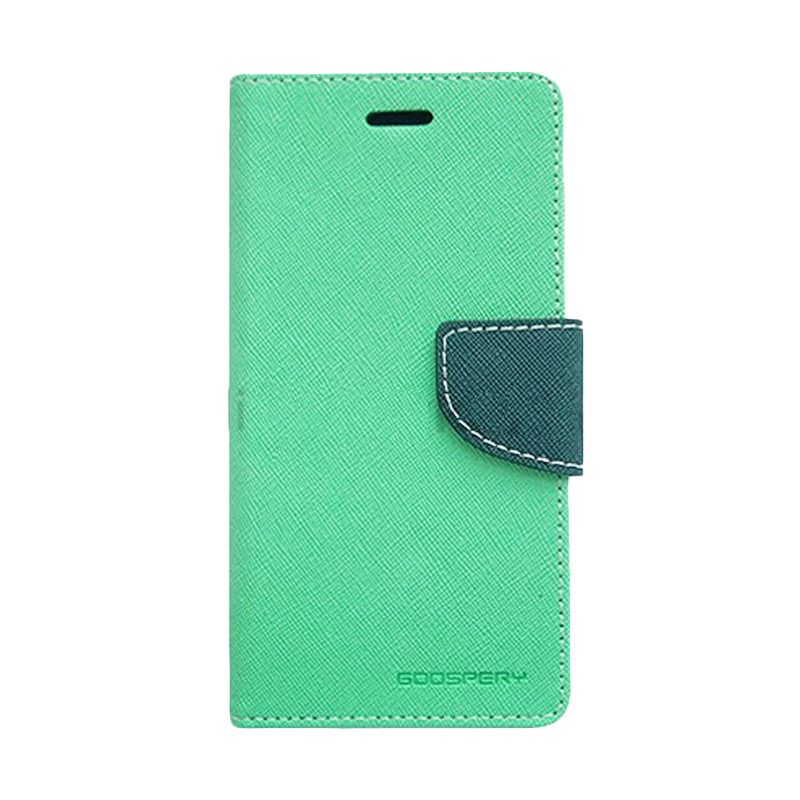 Mercury Goospery Fancy Diary Mint Navy Casing for LG G2