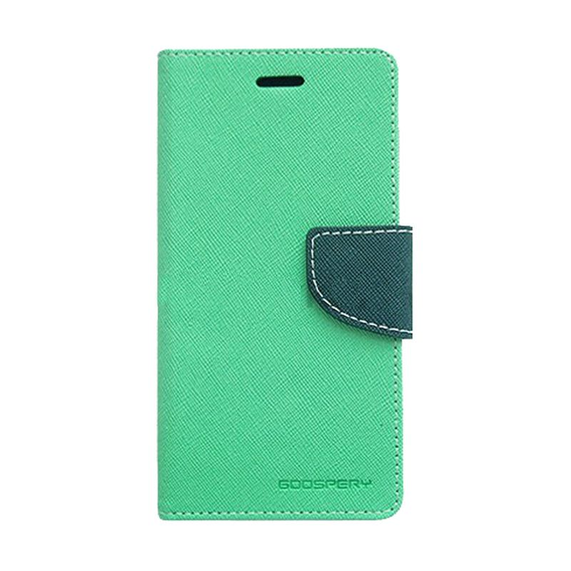 Mercury Goospery Fancy Diary Mint Navy Casing for Samsung Galaxy S6 EDGE