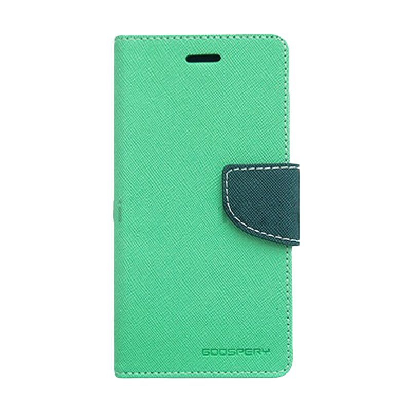 Mercury Goospery Fancy Diary Mint Navy Casing for Sony Xperia C3