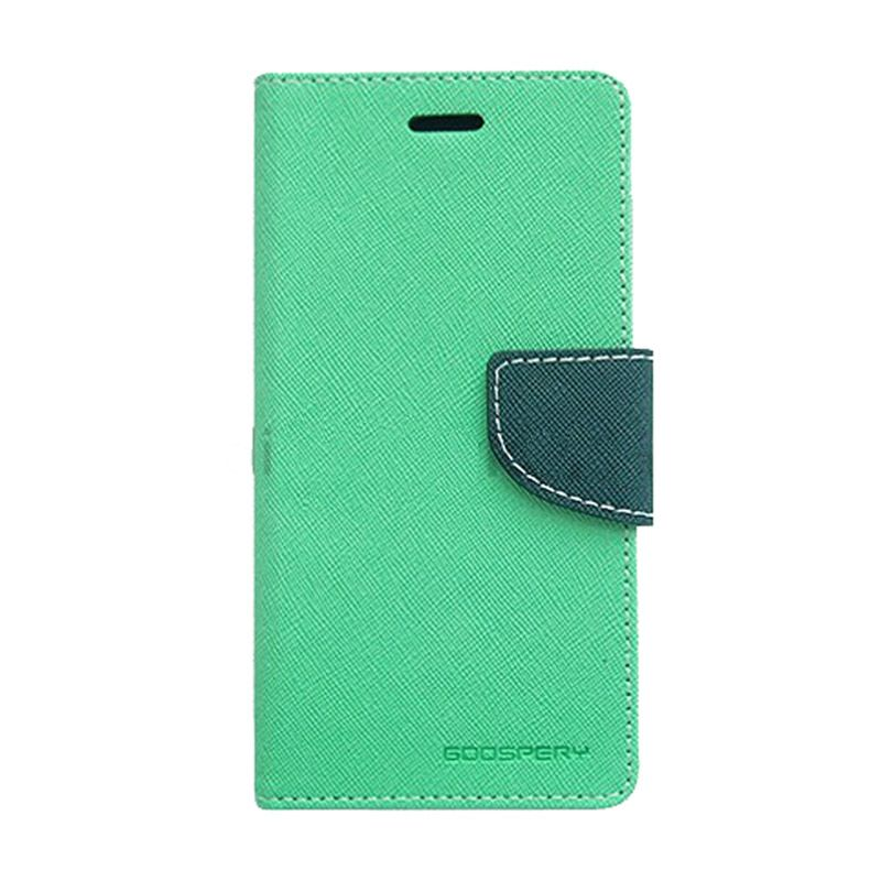 Mercury Goospery Fancy Diary Mint Navy Casing for Sony Xperia Z1