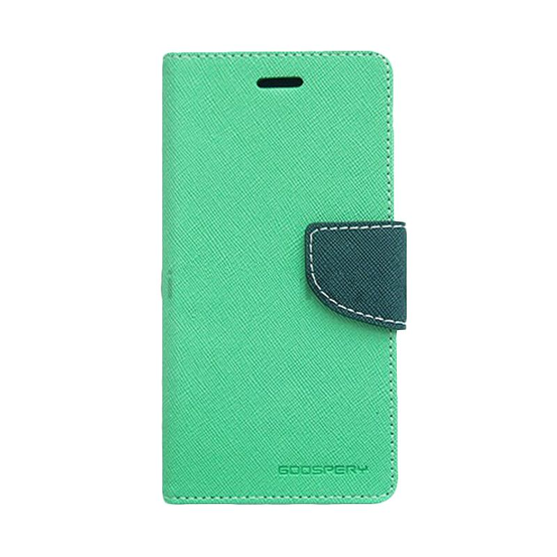 Mercury Goospery Fancy Diary Mint Navy Casing for Sony Xperia Z2