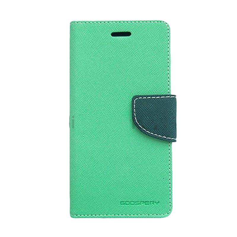 Mercury Goospery Fancy Diary Mint Navy Flip Cover Casing for Galaxy S4 Mini