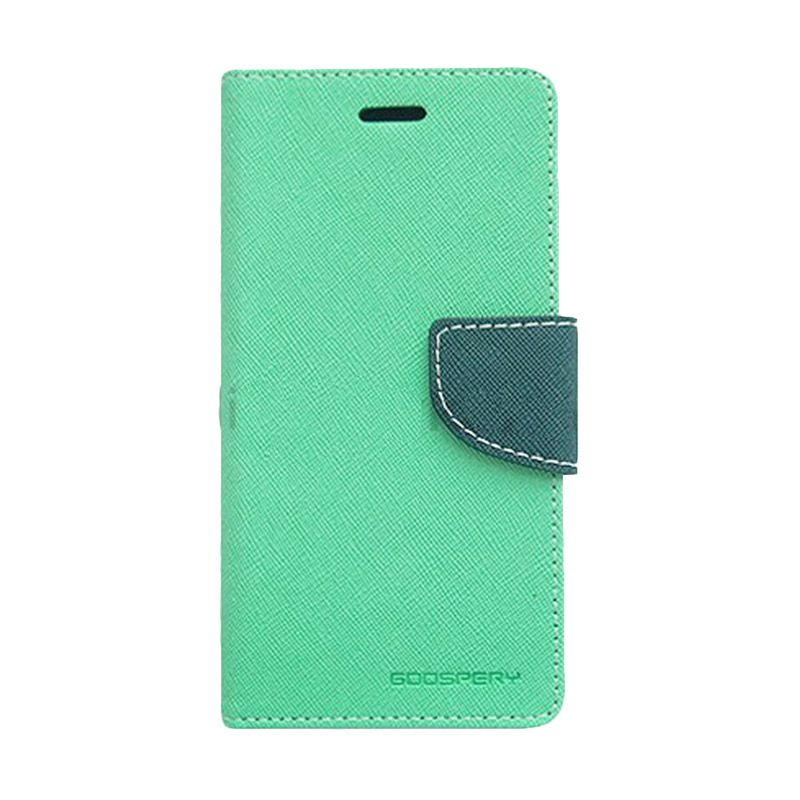Mercury Goospery Fancy Diary Mint Navy Flip Cover Casing for Sony Xperia T2 Ultra