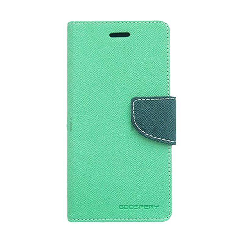 Mercury Goospery Fancy Diary Mint Navy Flip Cover Casing for Xiaomi M4