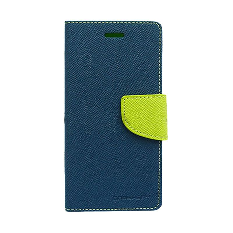 Mercury Goospery Fancy Diary Navy Lime Casing for Galaxy A3