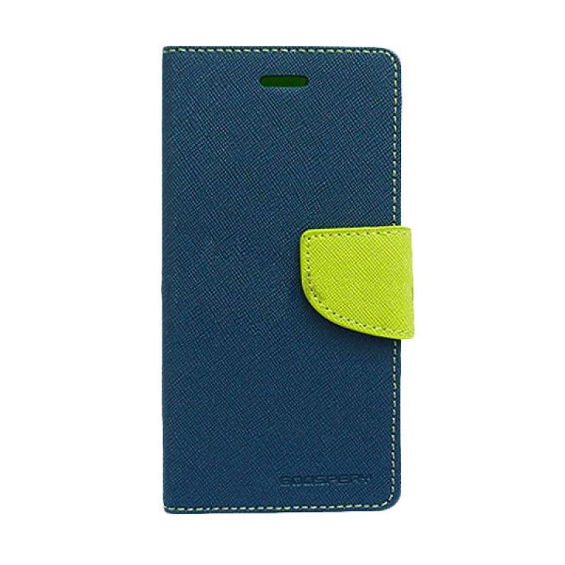 Mercury Goospery Fancy Diary Navy Lime Casing for Asus Zenfone 4S