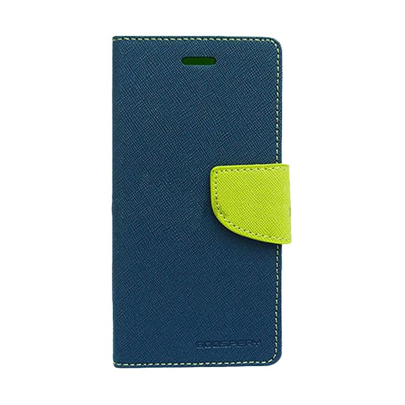Mercury Goospery Fancy Diary Navy Lime Casing for Galaxy Grand 2