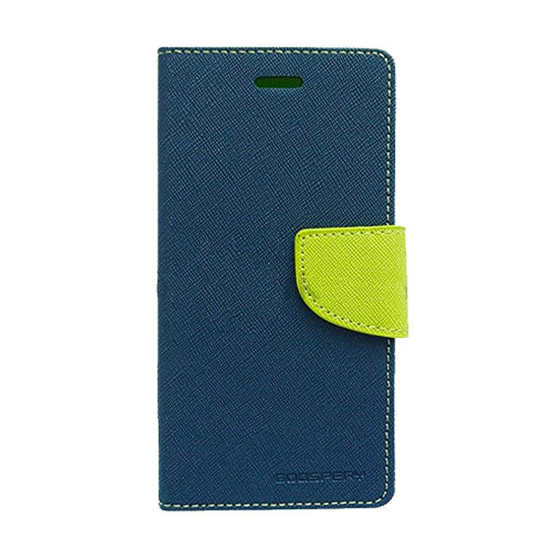 Mercury Goospery Fancy Diary Navy Lime Casing for Samsung Galaxy A7