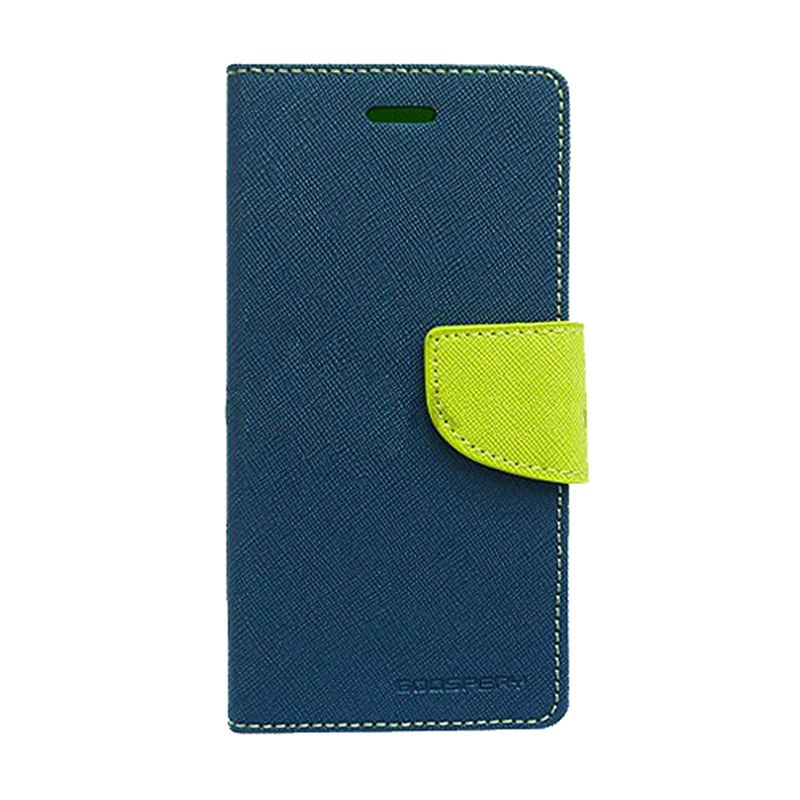 Mercury Goospery Fancy Diary Navy Lime Casing for Sony Xperia C