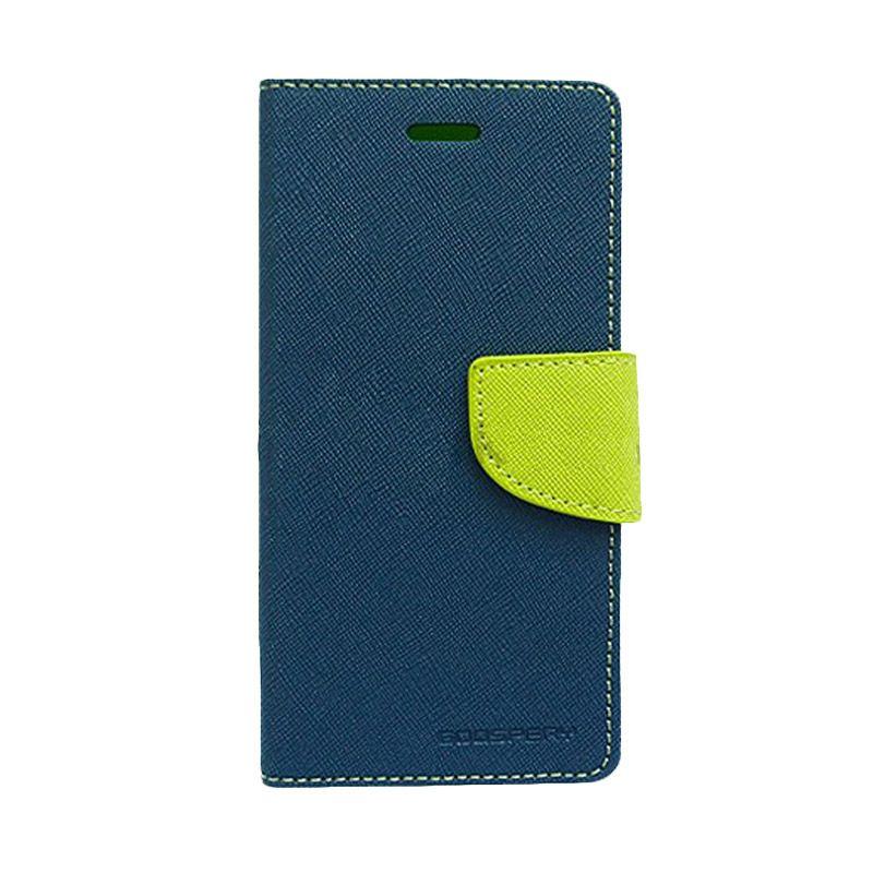 Mercury Goospery Fancy Diary Navy Lime Casing for Sony Xperia Z1