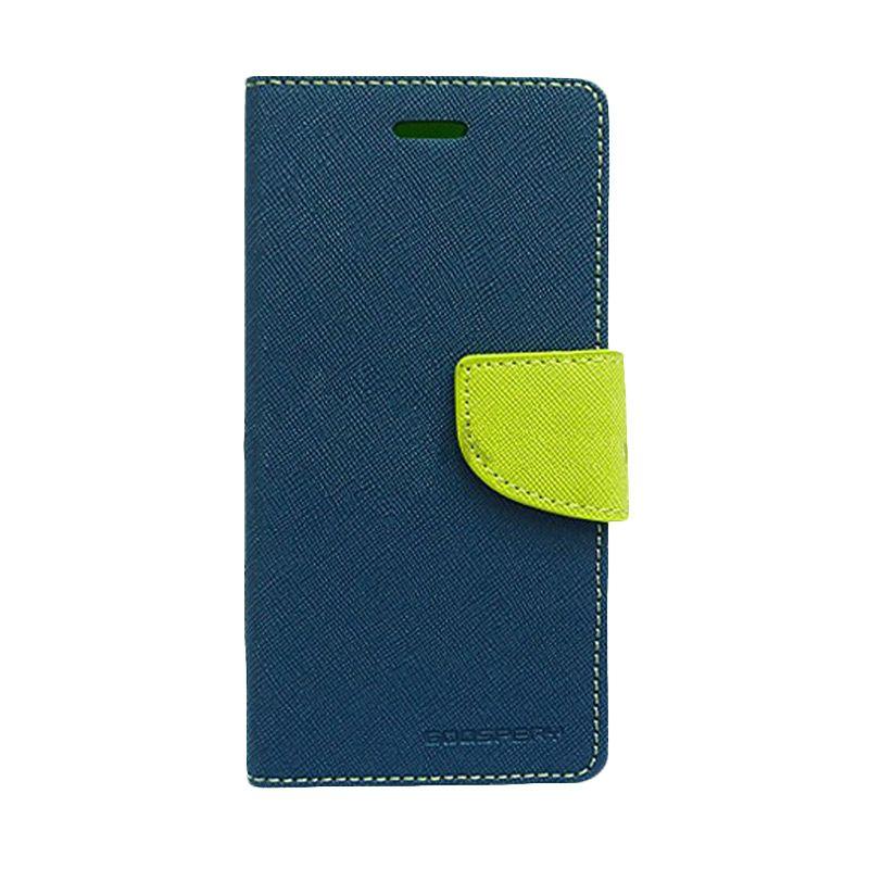 Mercury Goospery Fancy Diary Navy Lime Casing for Sony Xperia Z2
