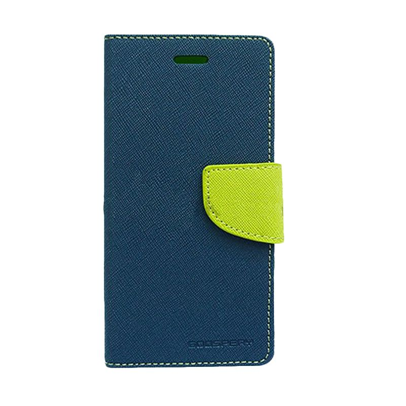 Mercury Goospery Fancy Diary Navy Lime Casing for Sony Xperia Z3