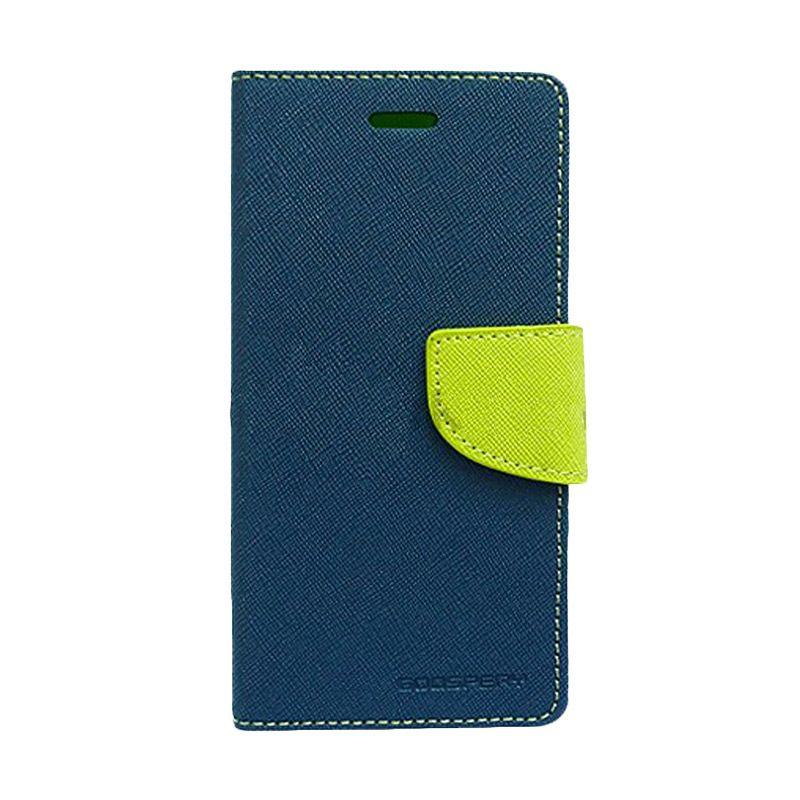Mercury Goospery Fancy Diary Navy Lime Flip Cover Casing for LG G Optimus Pro