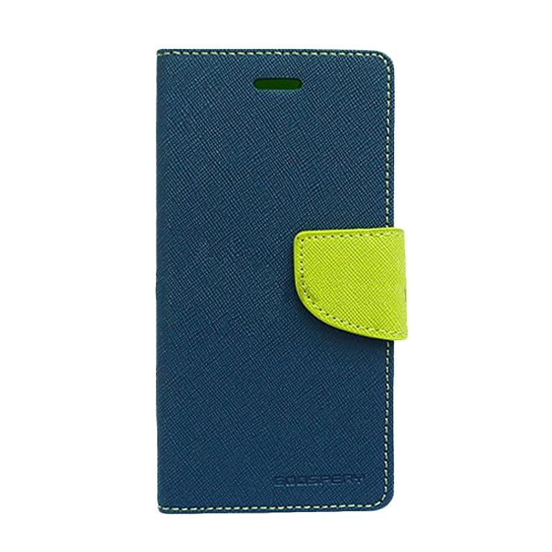 Mercury Goospery Fancy Diary Navy Lime Casing for OPPO R1