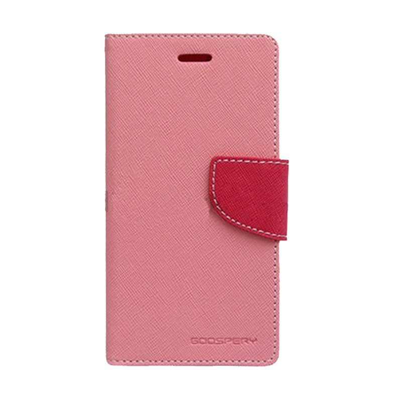 Mercury Goospery Fancy Diary Pink Hot Pink Casing for Asus Zenfone 2