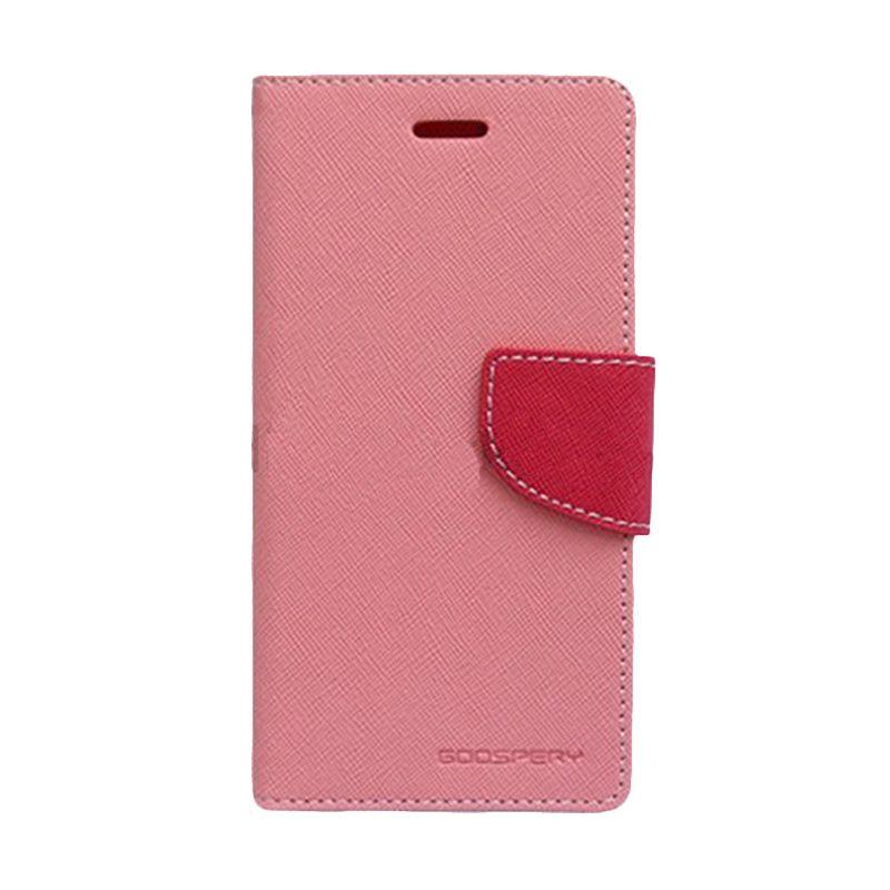 Mercury Goospery Fancy Diary Pink Hot Pink Casing for Asus Zenfone 4S