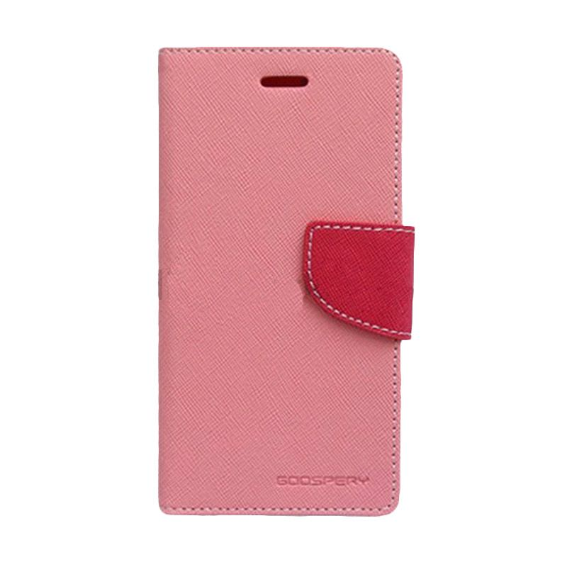 Mercury Goospery Fancy Diary Pink Hot Pink Casing for Asus Zenfone 5