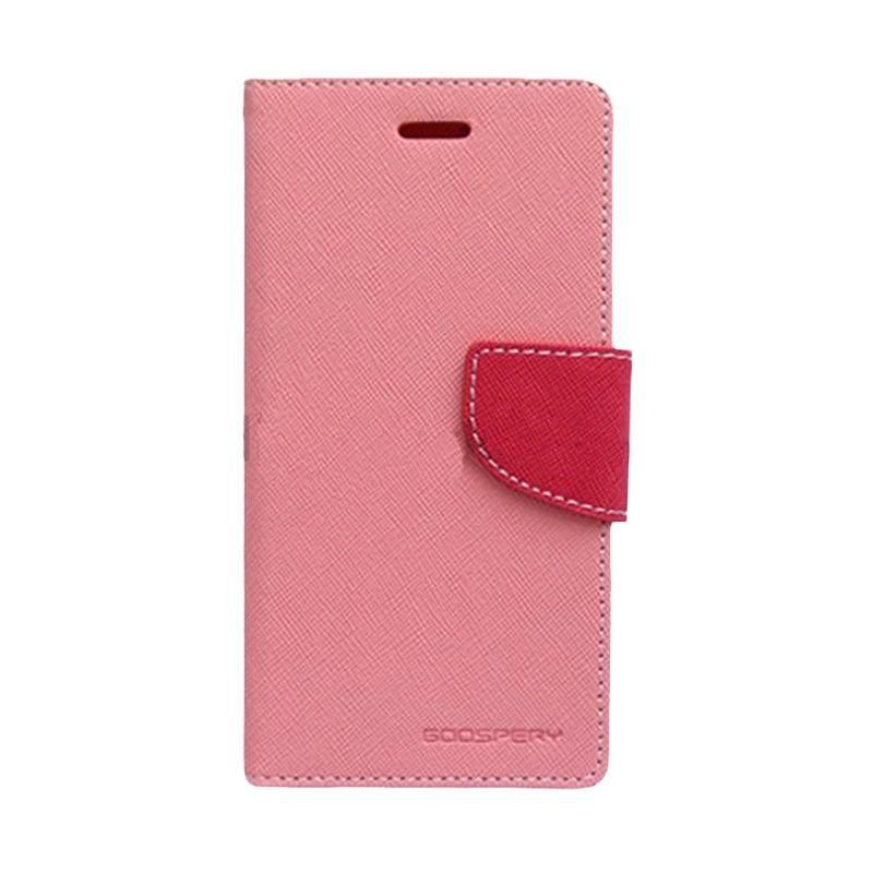 Mercury Goospery Fancy Diary Pink Hot Pink Casing for Galaxy Alpha