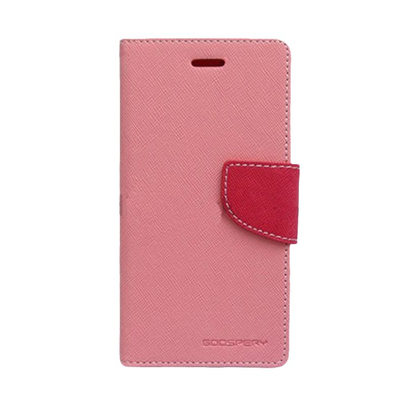 Mercury Goospery Fancy Diary Pink Hot Pink Casing for Galaxy Mega 2