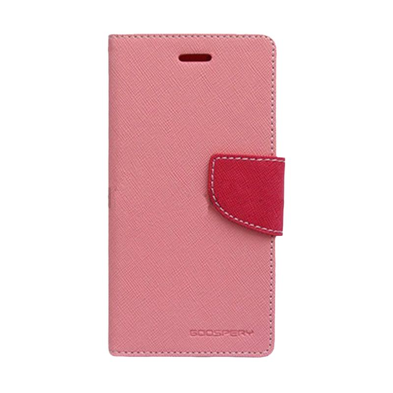 Mercury Goospery Fancy Diary Pink Hot Pink Casing for Galaxy Young 2