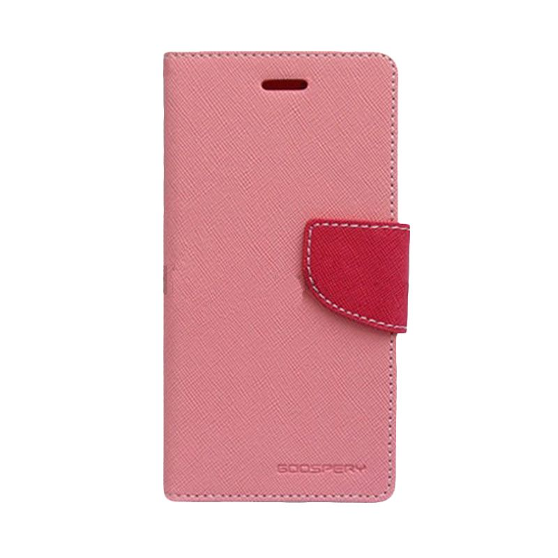 Mercury Goospery Fancy Diary Pink Hot Pink Flip Cover Casing for HTC One Mini