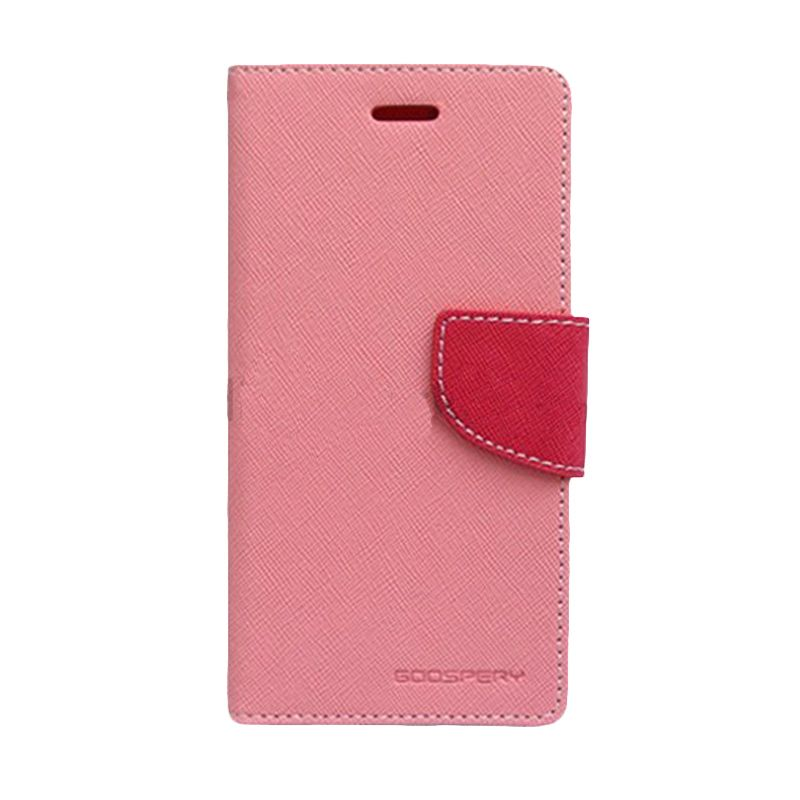 Mercury Goospery Fancy Diary Pink Hot Pink Casing for LG G Optimus Pro