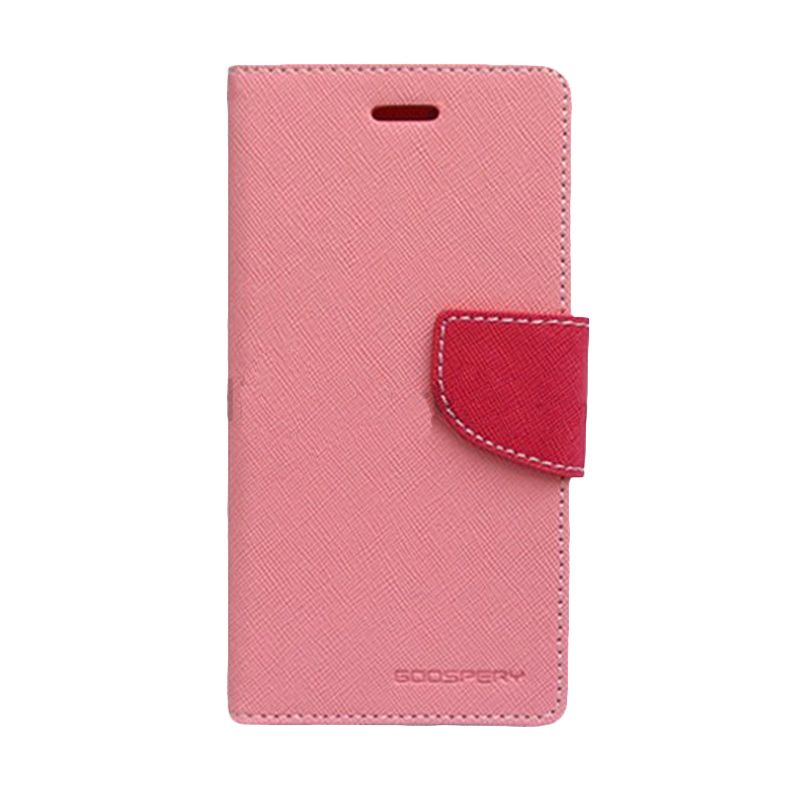Mercury Goospery Fancy Diary Pink Hot Pink Casing for LG G Pro 2