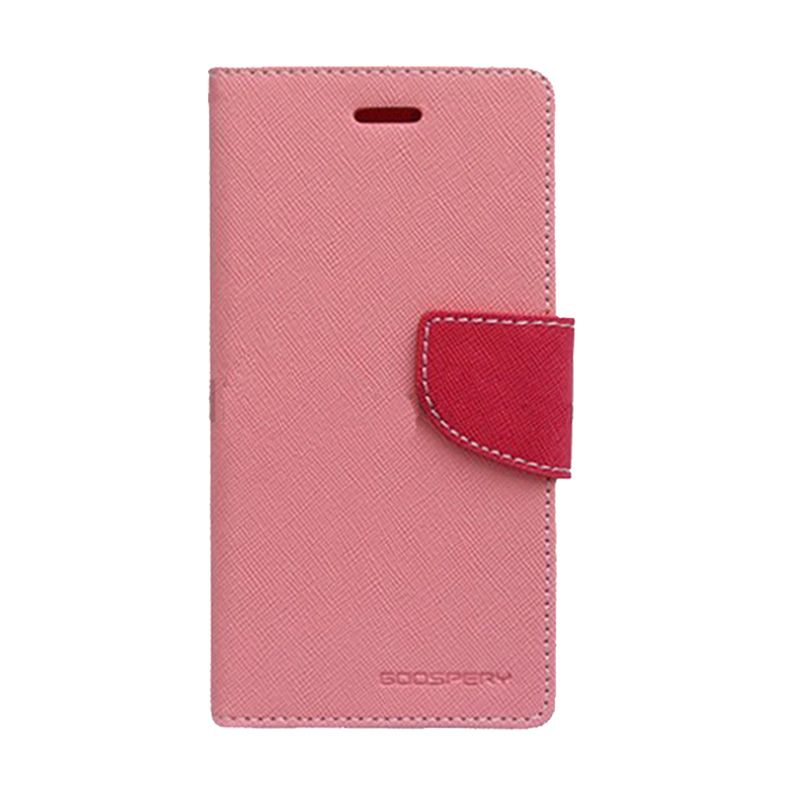 Mercury Goospery Fancy Diary Pink Hot Pink Casing for OPPO Joy