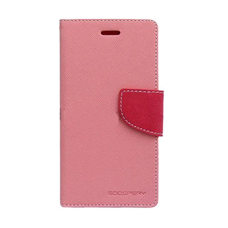 Mercury Goospery Fancy Diary Pink Hot Pink Casing for OPPO Yoyo