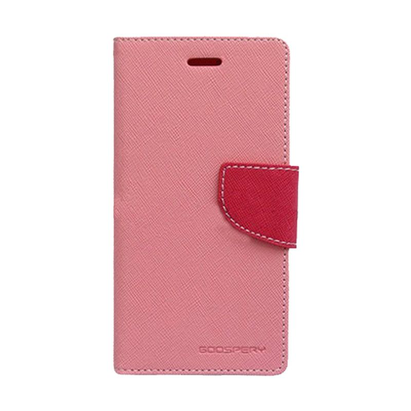 Mercury Goospery Fancy Diary Pink Hot Pink Casing for Samsung Galaxy Note 2