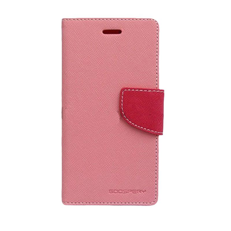 Mercury Goospery Fancy Diary Pink Hot Pink Casing for Samsung Galaxy Note 3 Neo
