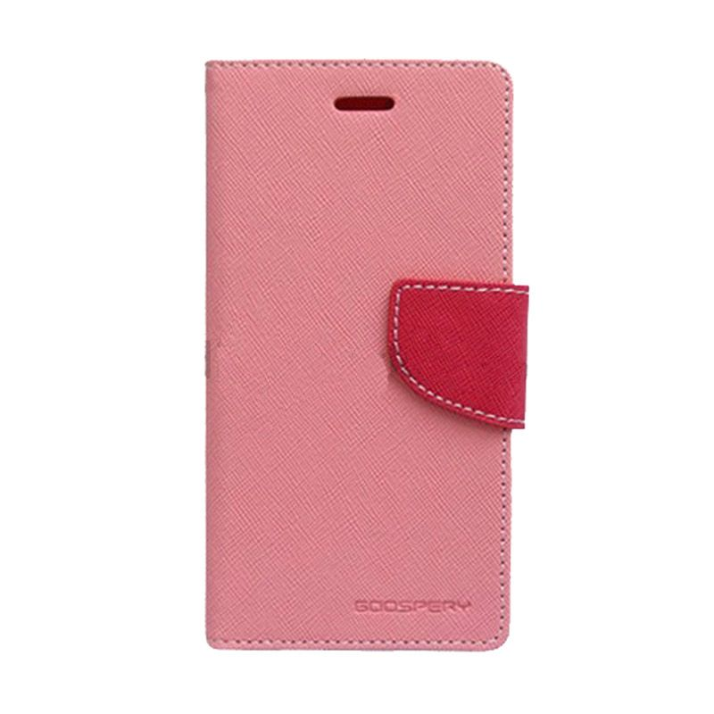 Mercury Goospery Fancy Diary Pink Hot Pink Casing for Sony Xperia C