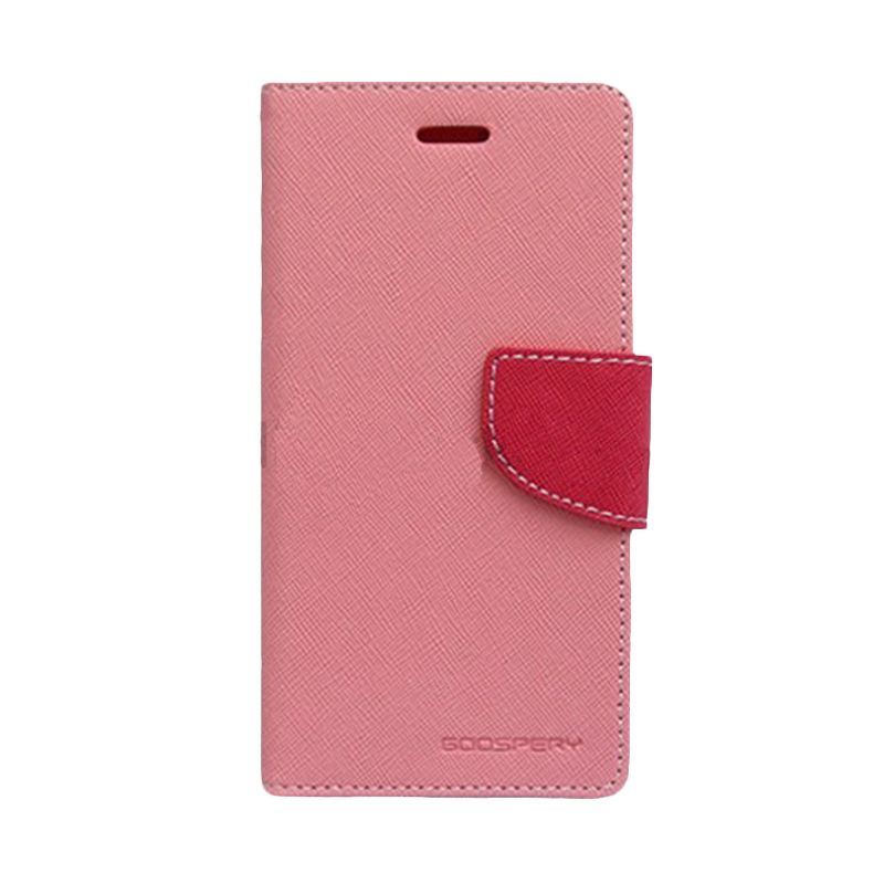 Mercury Goospery Fancy Diary Pink Hot Pink Casing for Sony Xperia Z1