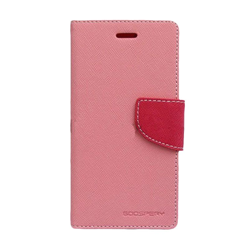 Mercury Goospery Fancy Diary Pink Hot Pink Flip Cover Casing for Galaxy Core