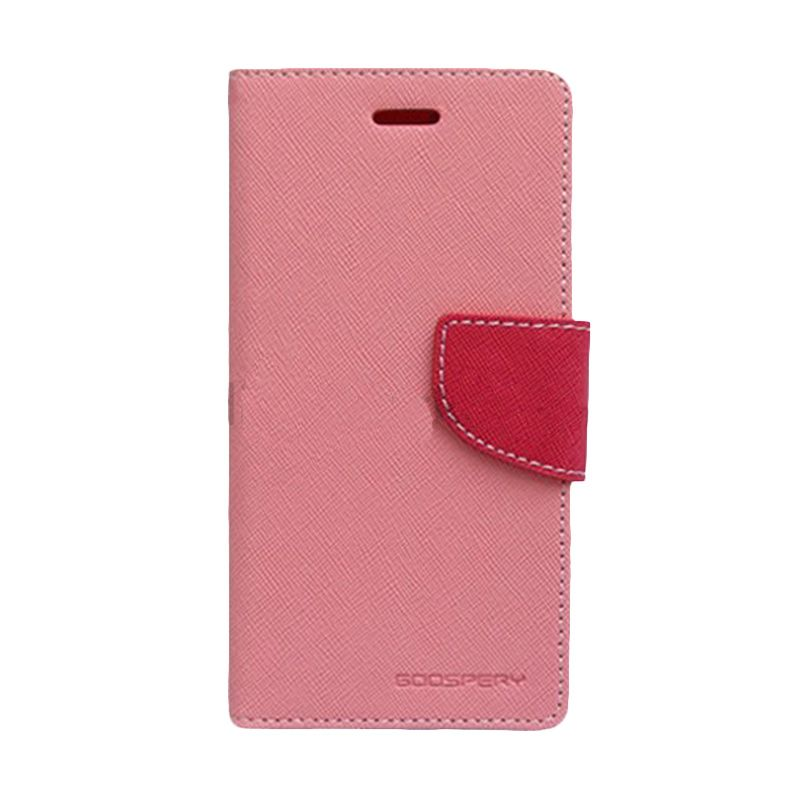 Mercury Goospery Fancy Diary Pink Hot Pink Flip Cover Casing for Galaxy S4 Mini