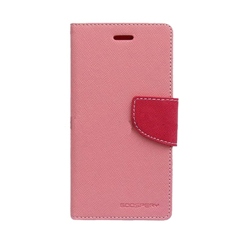 Mercury Goospery Fancy Diary Pink Hot Pink Flip Cover Casing for Galaxy Y Duos