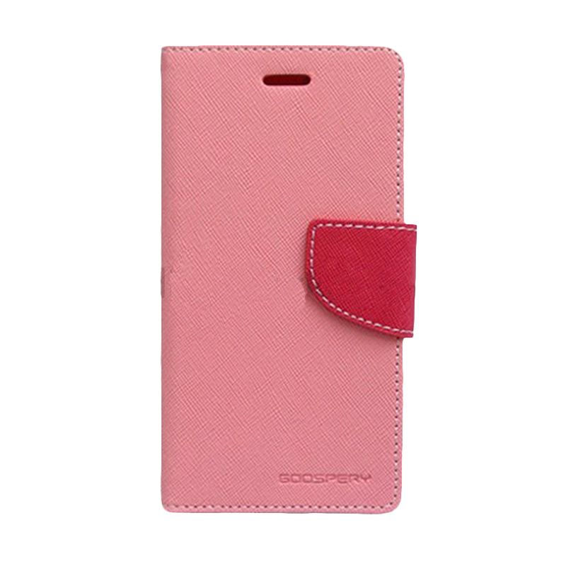 Mercury Goospery Fancy Diary Pink Hot Pink Flip Cover Casing for LG G Pro Lite