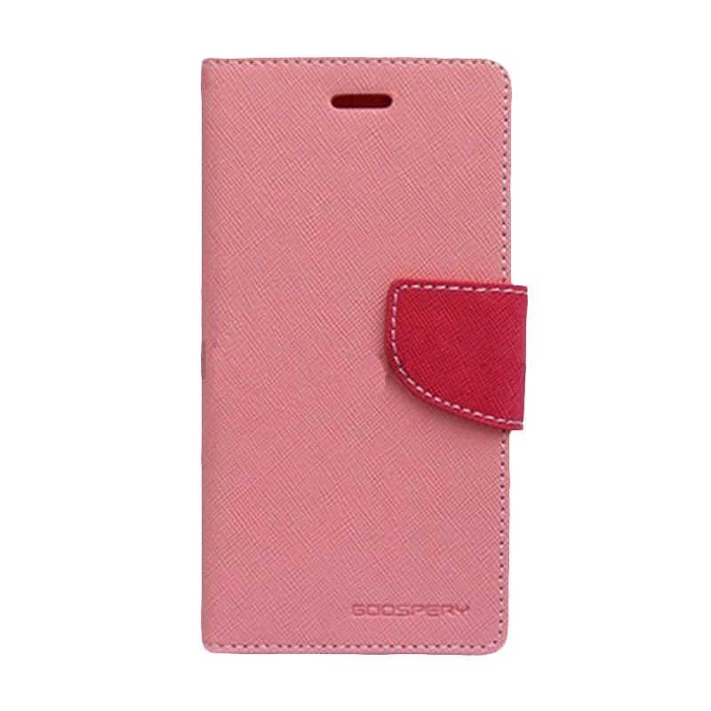 Mercury Goospery Fancy Diary Pink Hot Pink Casing for Galaxy S4