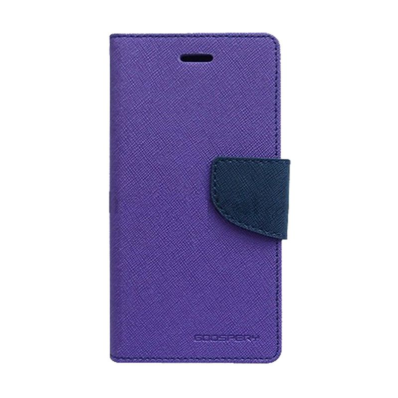 Mercury Goospery Fancy Diary Purple Navy Casing for Apple iPhone 6