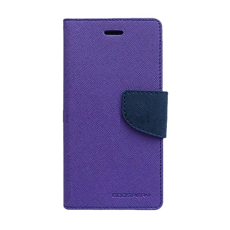Mercury Goospery Fancy Diary Purple Navy Casing for Galaxy A5