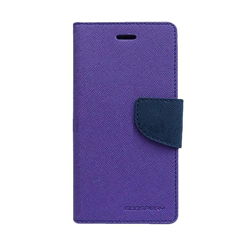 Mercury Goospery Fancy Diary Purple Navy Casing for Galaxy S3