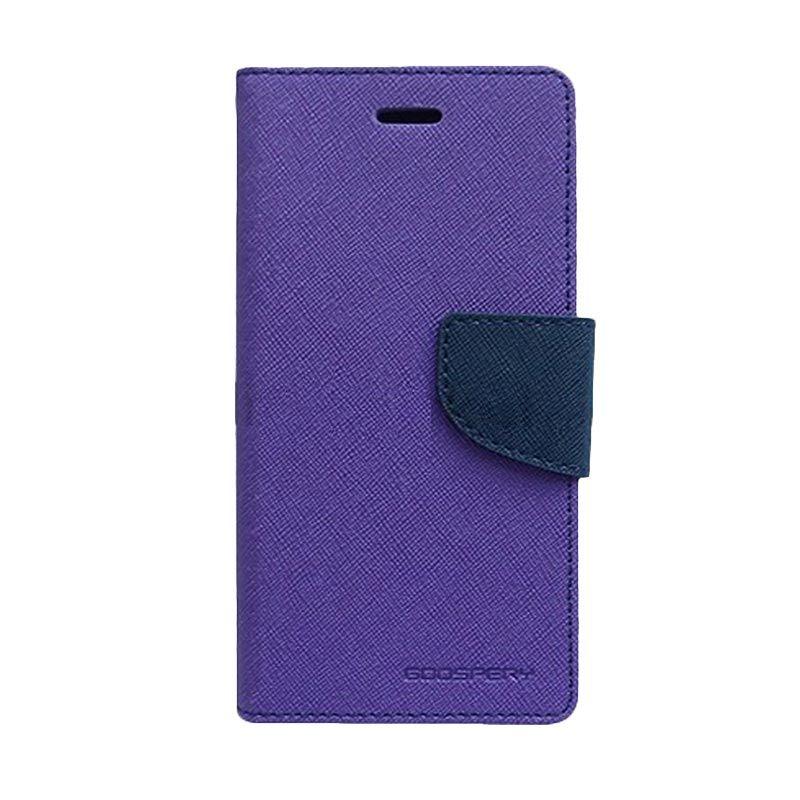 Mercury Goospery Fancy Diary Purple Navy Casing for Galaxy Trend Lite