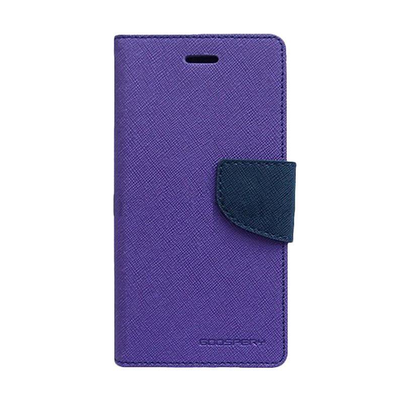 Mercury Goospery Fancy Diary Purple Navy Casing for LG Nexus 5