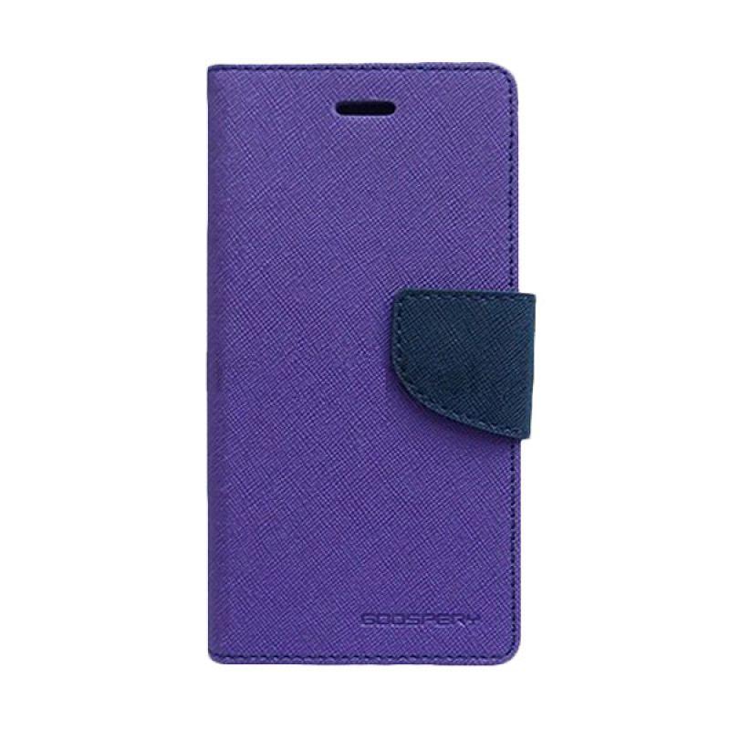 Mercury Goospery Fancy Diary Purple Navy Casing for OPPO R1