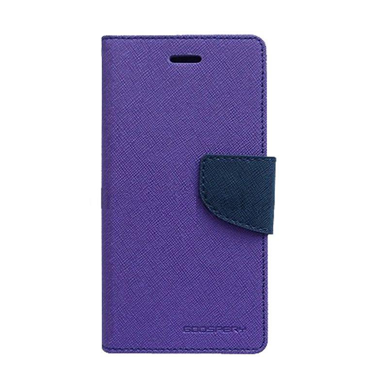Mercury Goospery Fancy Diary Purple Navy Casing for Samsung Galaxy S6 EDGE