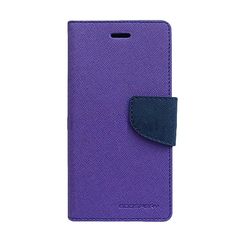 Mercury Goospery Fancy Diary Purple Navy Casing for Sony Xperia C